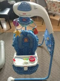 white and blue Fisher-Price cradle n swing Chester, 03036