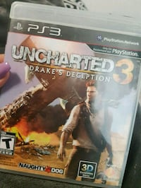 Uncharted 3 Drake's Deception PS3 game case Calgary, T2Z 0A2