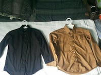 two brown and black button-up long sleeve shirts San Juan, 78589
