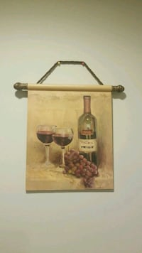 Beautiful Italian wall art merlot wine glasses  Bloomfield Township, 48302