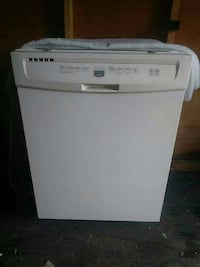 white portable dishwasher