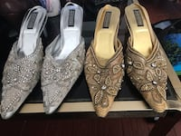 Evening shoes (1 pair silver and 1 pair gold) Mississauga, L5V 1S3