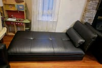black leather 2-seat sofa Surrey, V3R 1L1