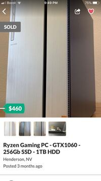 Nice gaming pc deliver available Las Vegas, 89147