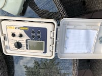 Nelson 6 zone controller with lockable box and sensor and second rain bird zone control  Surrey, V3S 4N9