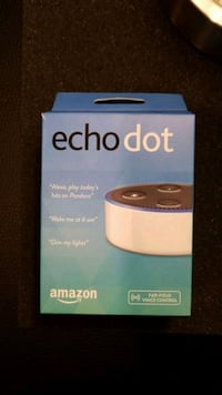 Never used Echo Dot with leather case  Arlington, 22204