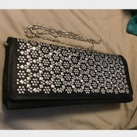 black and silver studded wristlet Boston, 02135