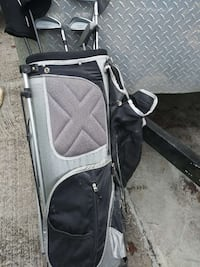 black and gray golf bag with golf club set Conway, 29526