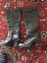 Easy Spirit Black Leather Boots 8w Los Angeles, 91405