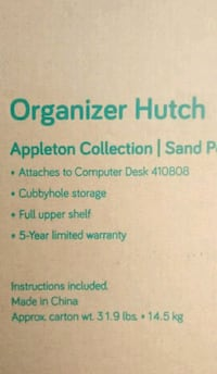 Organizer Hutch for the top of your desk Centennial, 80112