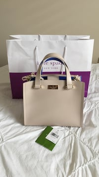 Authentic katespade bag- beige with blue interior