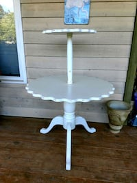 white wooden pedestal table with drawer Monroe, 28110