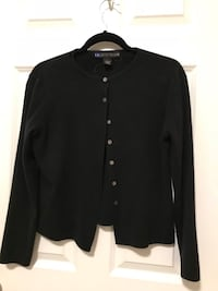 black button-up long-sleeved shirt null