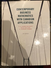 Contemporary business mathematics with canadian applications Mississauga, L5B 0K4