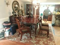 Solid wood dining table with 6 chairs  great detai Ponchatoula, 70454
