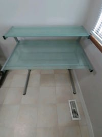 Desk (frosted glass) 3 piece unbolted for easy tr Langley Township, V4W 3J8