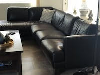 Black leather sectional sofa with ottoman Bakersfield, 93311