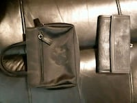 two black leather crossbody bags 3729 km