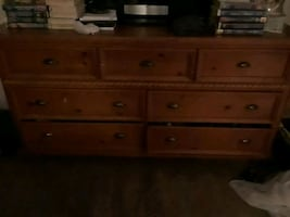 Dresser and one side table