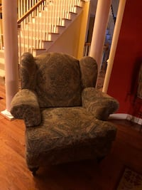brown and gray floral sofa chair Fort Washington, 20744