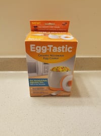 white Egg Tastic ceramic microwave egg cooker box Elkton, 21921