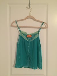 Teal spaghetti strap top med.