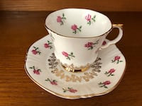 EUC Vintage Royal Adderley Rose and Gold Antique Tea Cup And Saucer