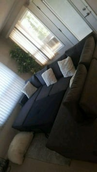 Grey sectional sofa bed with chaise Edmonton, T6M 0K4