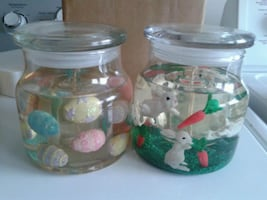 NEW! Easter gel candles with extra candles.
