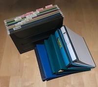Gently used binders, hanging file folders and hanging rack Markham, L6E 1E7