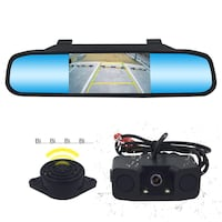 Backup Camera and Mirror Monitor Kit Waterproof Rear View Camera IR Night Vision Car Rearview Mirror with 170 Wide Angle Reverse/Rear View Cam tft-LCD New York, 11232