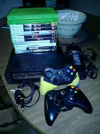 black Xbox 360 console with controller and game ca Bristol, 02809