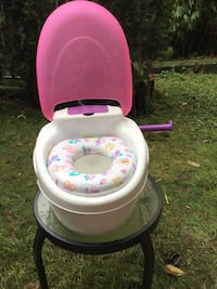 toddler's white and pink potty trainer Vancouver, V6E 1R6