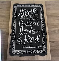 Love is Patient Wall Frame Woodlake, 93286