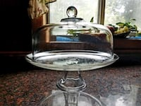 round clear glass bowl with stand Alexandria