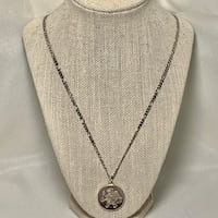 Sterling Silver Figaro Chain with Half Troy Ounce .999 Fine Silver Pendant Ashburn, 20147
