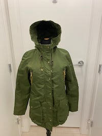 Zara Army green hoodie jacket S Richmond, V6X 2A2