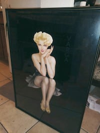Rare Black Edition Vargas Cover Girl Framed Print