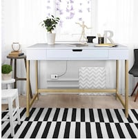 White Desk with USB ports (Brand New/still in the box) Winthrop, 02152