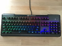 Gaming Keyboard: Cougar Ultimus With RGB lighting and Red Mechanical Switches LAUREL