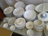 white ceramic plates and cups Lancaster