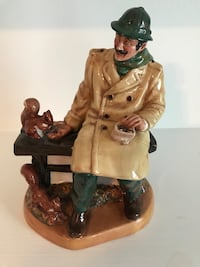 brown and green ceramic figurine Bowie, 20721