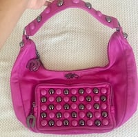 Authentic Betsey Johnson Pink Leather Purse  Vaughan