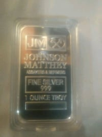.999 silver clad one oz bar
