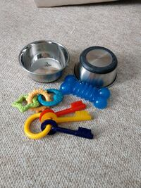 Dog bowls and toy package