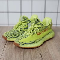 pair of green Adidas Yeezy Boost 350 V2 Selby, YO8
