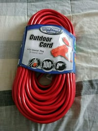 New 100 ft. Outdoor Extension Cord with 3 Outlets Hamilton, L9H 5E1