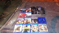 Ps4 wit games cords controller and headset