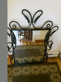 Rod iron  framed wall mirror