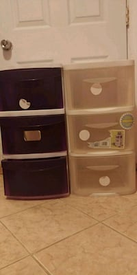 Two sets plastic drawers Alexandria, 22312